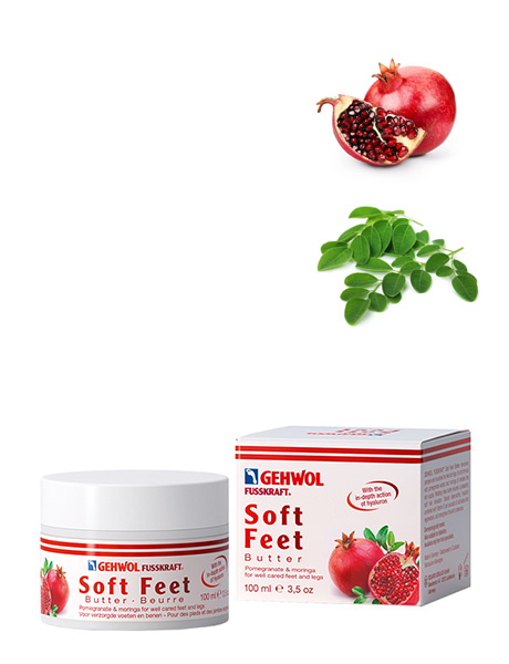 Геволь Крем-баттер Гранат и моринга Gehwol Fusskraft Soft Feet Butter