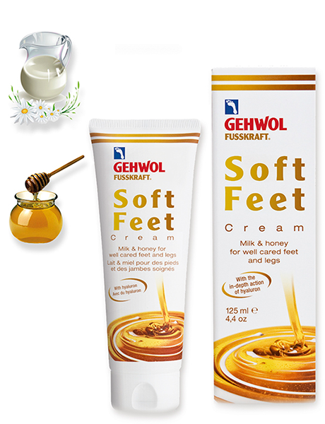 Геволь Шелковый крем молоко и мед с гиалуроновой кислотой Gehwol Soft Feet Cream
